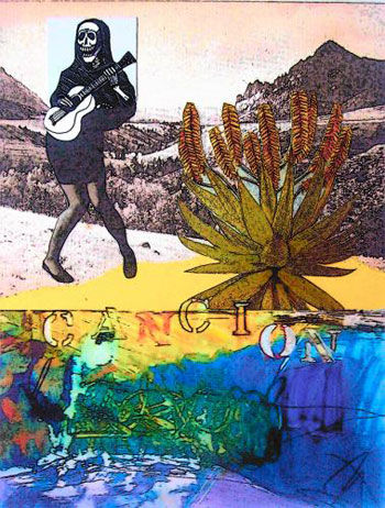 Cancion. Collage by Donna Reibslager