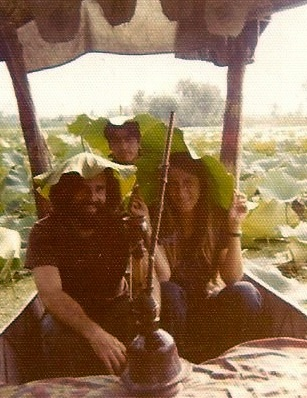 Lake Srinigar, Kashmir. No, there was nothing in that hookah. We were just weird.